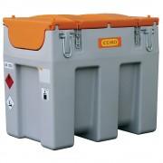 CEMO DT-Mobil Easy Diesel-Tankanlage Inhalt 600 l, mit Elektropumpe 12 V, 40 l/min Automatik-Zapfpistole und Klappdeckel