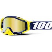 100% Racecraft Extra Bibal Óculos de motocross Branco Azul único tamanho