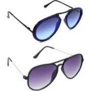 Hrinkar Wrap-around Sunglasses(Clear, Violet)