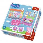 Trefl Puzzle 2u1 i Memos Peppa Pig (12-906004)