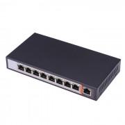 8 puertos 10/100 Mbps poe switch - negro + blanco