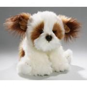 Geen Zittende pluche knuffel shih tzu hond 24 cm