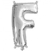 Stylewell 16 Inch Alphabet (F) Soild (Silver) Color 3D Foil Balloons For Birthday And Anniversary Parties Decoration
