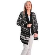 Die moderne Hausfrau Dlouhý vzorovaný svetr, černobílý, vel. s/m