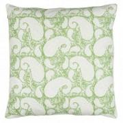 Cushion cover - big paisley - light green