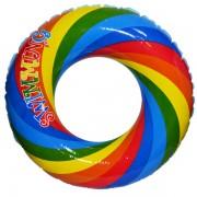 Colac gonflabil pentru copii - Model Curcubeu 60 cm