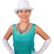 Merkloos Witte hoge hoed 59 cm - Verkleedhoofddeksels