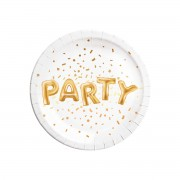 Farfurii Gold Party 23 cm