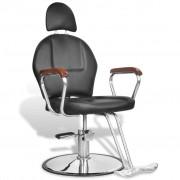 vidaXL Professzionális műbőr fodrász szék fejtámasszal fekete