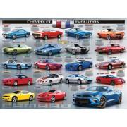 Пъзел Eurographics от 1000 части - Еволюция на Chevrolet Camaro