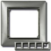 Рамка 5 постов Legrand Valena алюминий/серебряный