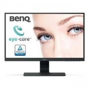 Монитор BenQ GW2480E, IPS, 23.8 inch, Wide, Full HD, D-sub, HDMI, DisplayPort, Черен, BENQ-MON-GW2480E