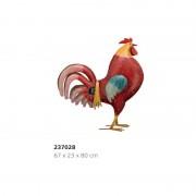 Coq rouge XL en métal