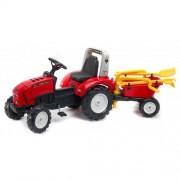 Tractor Lander Rosu cu Remorca