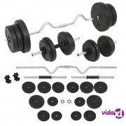 vidaXL Set šipki i utega 60 kg