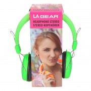 Merkloos Koptelefoon stereo neon groen