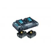 Kit de incarcare Li-Ion LXT 18V Makita 2 acumulatori 3.0Ah si incarcator dublu