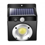 Napelemes COB LED fali mozgásérzékelős világítás 12,5 cm hideg fehér