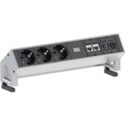 Prelungitor cu 3 prize, 2 x RJ45, 1 x USB 3.0, 1 x HDMI, 1,5 m, negru, Bachmann Electric 902.502
