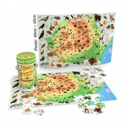 Puzzle Noriel Cunoastere- Harta Romaniei, 150 piese + Poster