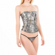 INTIMAX CORSET GREY FLOWER GRIS M