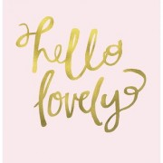 hello lovely poster|valentine poste|love birds poster|poster for lovers|size(12x18 inch) wall sticker poster
