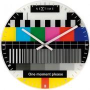 Orologio da parete Little Testpage - monoscopio in vetro Nextime