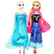 SHANAYA TOYS Frozen Anna an Elsa Dolls for Girls - 28 cm (Multicolour)