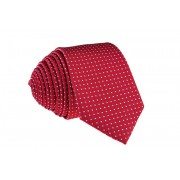 Pánská červená slim kravata se čtverečky - 6 cm