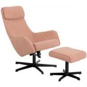 Кресло с табуретка ERICA, златно бежов, 3550903