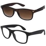 Meia Combo offer of UV Protected Branded Stylish Mercury Wayfarer Sunglasses for Men Women Boys Girls