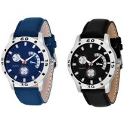 Lorem Combo Blue With black Fogg Latest Designing Stylist Combo Pack Of 2 Professional Analog Watch For Men Boys