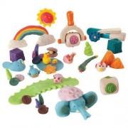 Plan Toys Drewniane akcesoria do ciastoliny, masy solnej - ciastolinowe zwierzątka,