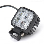 AST Works 12W CREE LED Work Light Flood Beam Car Truck Jeep Off Road Head Spot Lamp Boat