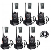 Set 6 buc Baofeng BF-888S cu 12 acumulatori 1500 mAh + Bonus Cablu+CD programare