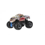 Hot Wheels Year 2016 Monster Jam 1:24 Scale Die Cast Metal Body Official Truck - Zombie (Bgh24) With Tires, Working Suspension And 4 Wheel Steering