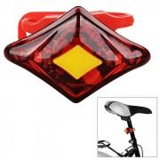 SOLDIER SJ-10269 USB 2-LED rojo luz 3-modo de la lampara de bicicleta - rojo