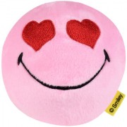 Smileyworld Smiling Face with Heart Eyes Expression Soft Toy Ball 4 Inches Pink by Ultra
