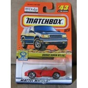 Mattel 2000 Matchbox Red Dodge Viper RT/10 #43 1:64 Scale Die Cast Show Cars