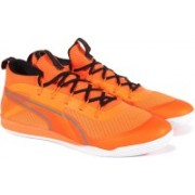 Puma evoSPEED Star Knit IGNITE Football Shoes For Men(Orange)