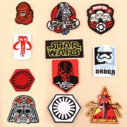 Star Wars Patch Embroidered Patches for Clothing Iron on Patches on Clothes Darth Vader Troopers Figure Badge Accessories Gift