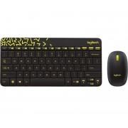 Tipkovnica + miš Logitech MK240 Nano Desktop Cordless, bežična, crna, USB