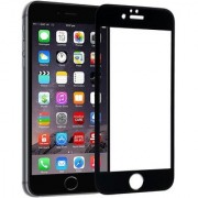 9H Full Glue 5D Tempered Glass Guard Protector for Apple iPhone 6S Plus (BLACK COLOR)