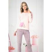 """Дамска пижама """"Pink Heart""""- Памук и Ликра"""