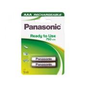Bateria Ni-Mh 1,2v - 750 Mah - Tamaño Aaa - Blister 2 Unidades - Panasonic