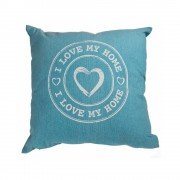 Perna decorativa i love my home - albastru, 40 x 40 cm