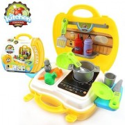 Kitchen Food playset (Set of 26 Pcs) Cooking Pretend Set for Kids