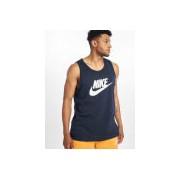 Nike / Tanktop Icon Futura in blauw - Heren - Blauw - Grootte: Large