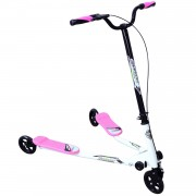 HOMCOM Kids 3 Wheels Speeder Scooter-Pink