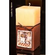 Designkaarsen com Koffiemolen, Vierkant, 75x150 mm - kaarsen